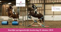 201810 ManageHitland-SpringenStartlijst