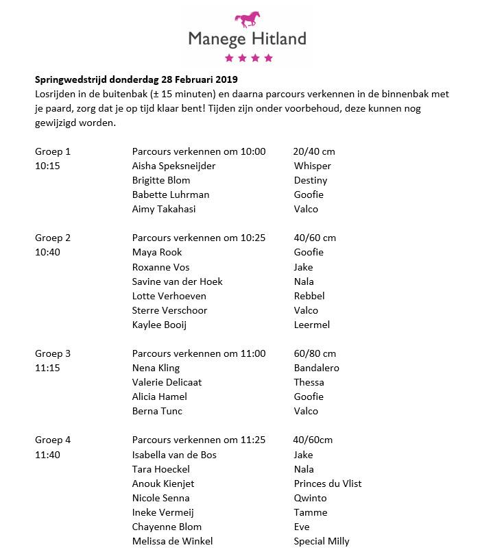 201902 ManegeHitland Springen