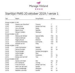 20191020 ManegeHitland_FNRS-Startlijst-v01